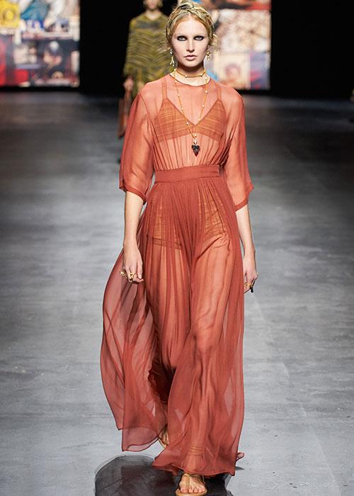 прозрачное платье диор