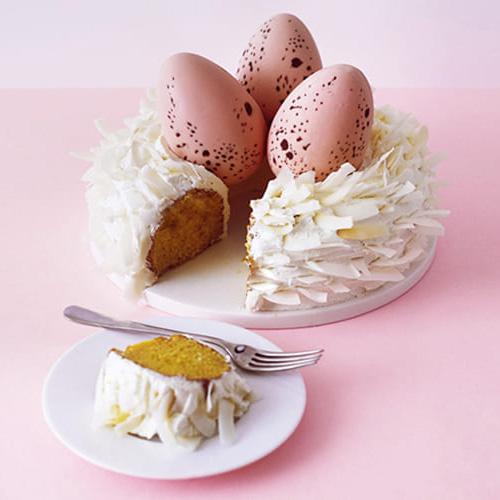 торт с шоколадными яйцами