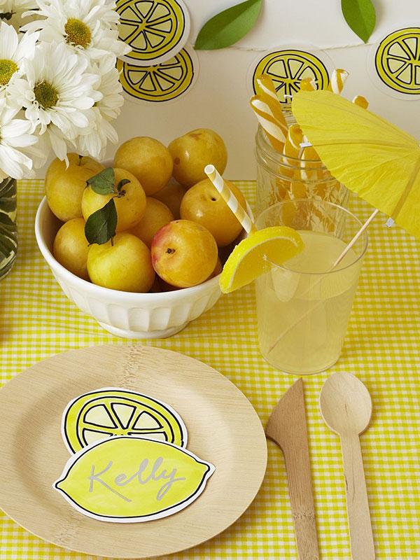 цитрусовые в оформлении стола