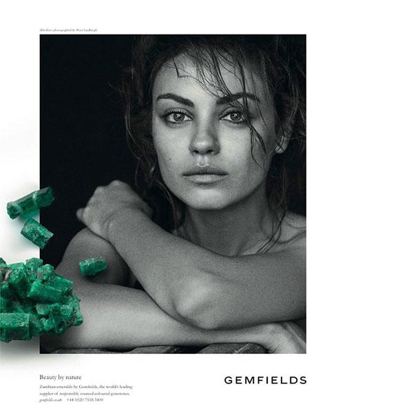Мила Кунис в рекламной кампании Gemfields