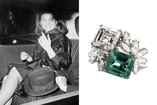 помолвочное кольцо Жаклин Бувье