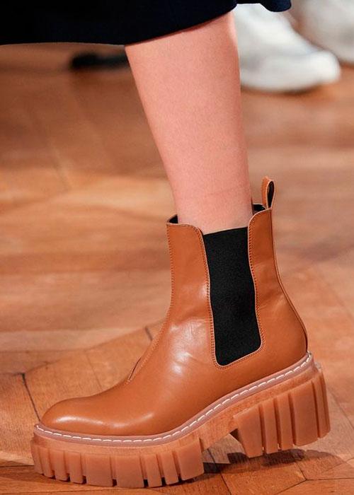 ботинки на протекторной подошве