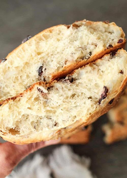 оливково-луковый хлеб