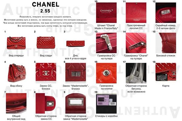 аутентификация брендовой сумки по фото