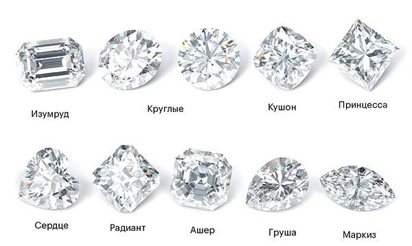 виды огранки бриллианта