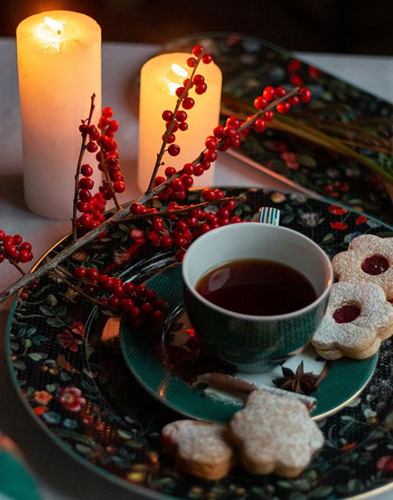 Рождественское печенье и посуда pip studio