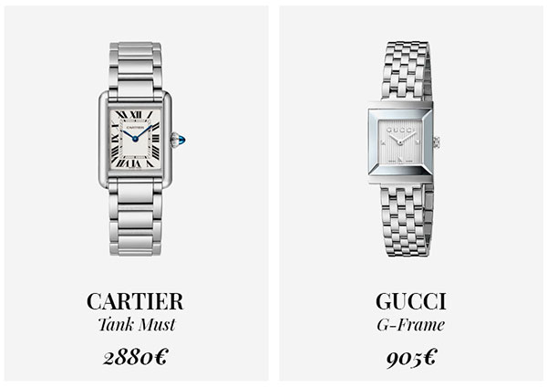 часы Cartier и Gucci