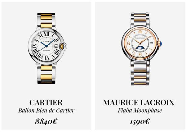 часы Cartier и Maurice Lacroix