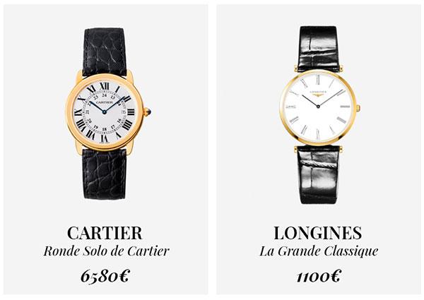 часы Cartier и Longines
