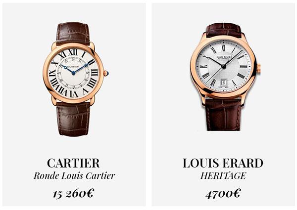 часы Cartier и Louis Erard