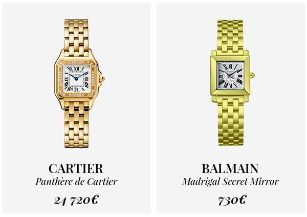 часы Cartier и Balmain